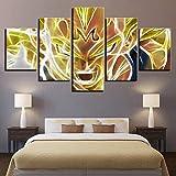 Bilder Vlies Leinwandbild 5 Teilig Kunstdruck modern Wandbilder Wanddekoration Design Wand Bild - Dragon Ball Goku Vegeta,A,30x40x2+30x60x2+30x80cmx1