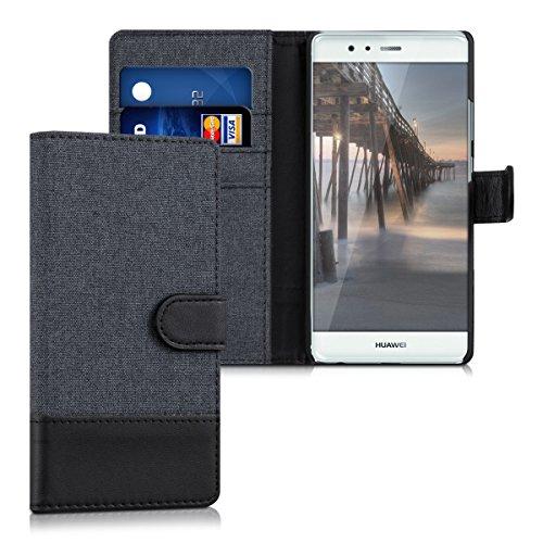 kwmobile Huawei P9 Hülle - Kunstleder Wallet Case für Huawei P9 mit Kartenfächern und Stand