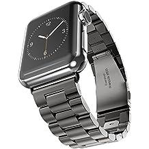 Evershop® Bracelet de montre Bracelet en acier inoxydable de 38mm Bracelet Bracelet en métal de remplacement pour Apple Watch, iWatch Tous les modèles 38mm