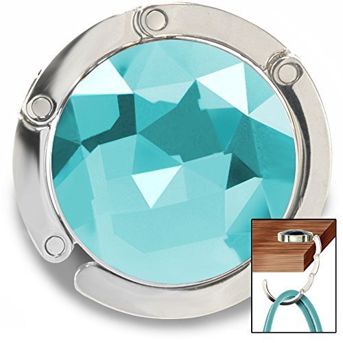 purse-hook-gem-accented-hanger-handbag-holder-for-tables-desks-and-more-by-fashion-heaven-turquoise-