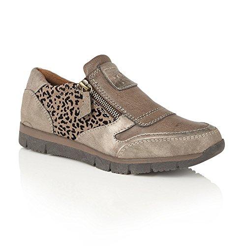 Lotus Bronze & Impression Ruto Zip-up Chaussures | Lotus Relife 36