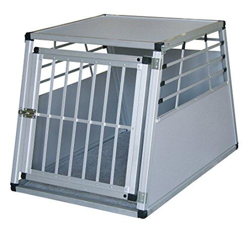 Kerbl Alu-Transportbox für Hunde 77 x 55 x 50 cm, mit Kissen