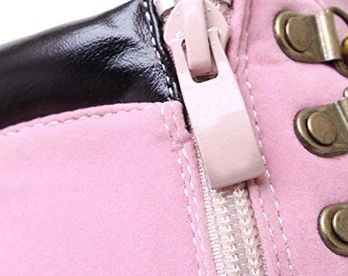 Martin Stivali Scarpe col tacco Piattaforma Stivali Slouchy Cotone Interno Caldo Autunno / Inverno Donna Stivali Pink