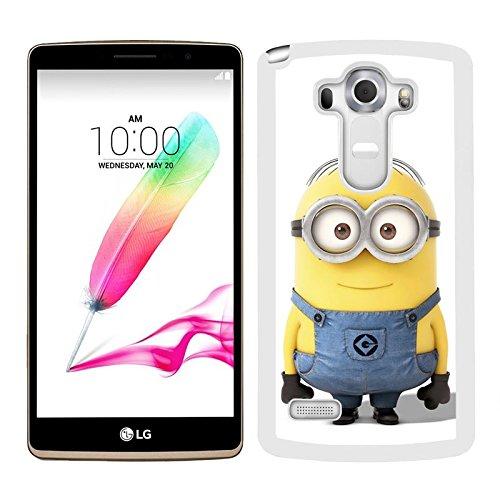 Funda carcasa para LG G4 Stylus dibujo minion borde blanco