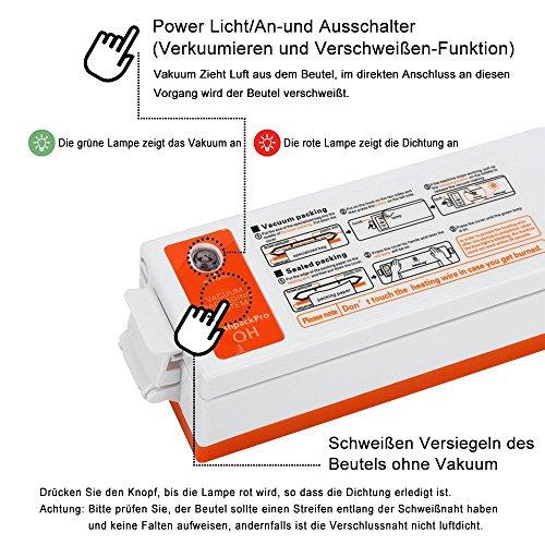 KYG Vakuumierer Kleine Folienschweißgeräte mit 15 Vakuumiergerät Folienbeutel - 6
