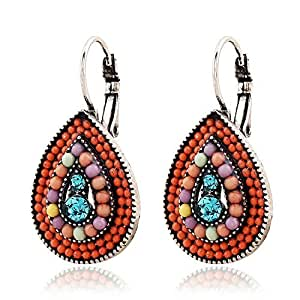 Youbella Bohemian Style Multi Color Gold Plated Earrings For Women