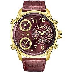 JBW Reloj con movimiento cuarzo suizo Man G4 Rojo 52 mm