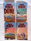 4 Volumes of Dune Series: #1 Dune / #2 Dune Messiah / #4 God Emperor of Dune / #5 Heretics of Dune