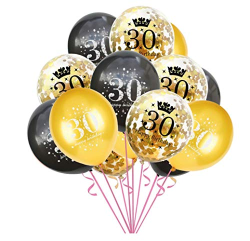 15 x 12 inch 30th Birthday Confetti Balloons