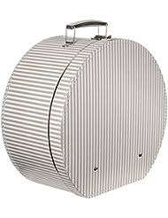 Lierys Hutbox Hutschachtel Hutkoffer Beige-Streifen Hutschachtel Hutbox