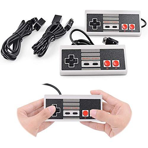 Generic Controller Ersatz für Nintendo NES Mini Classic Edition, Gamepad Entertainment-System-Konsole mit Receiver, 3 m Verlängerungskabel, Super Gaming Joypad Controller, 2 Stück