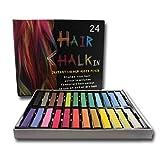 Priono Haarkreide - 24 Farben - für Kinder und Erwachsene - auswaschbar und ungiftig!
