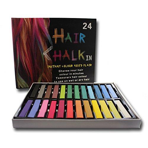 Priono® Haarkreide - 24 Farben - für Kinder und Erwachsene - auswaschbar und ungiftig!