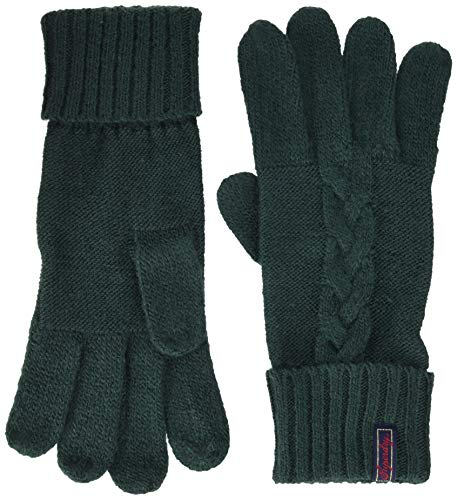 Superdry Lannah Cable Gloves Guanti, Verde (Emerald Green Vz7), Unica (Taglia Produttore: OS) Donna