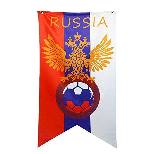Happyday FIFA 2018Coupe du monde de football Drapeau banderoles 70x 125cm à suspendre bannières fanions pour barre de décoration de fête, 1pièce