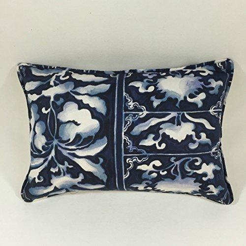 Ralph Lauren blau Tile Kissenbezug–45,7x 30,5cm schaffen die perfekte Funktion Kissen für ein Bett (Design-stoff Lauren Ralph)