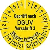 Prüfplakette Geprüft nach DGUV V3 ..., 2019 - 2024, Folie, Ø 2,5 cm, 100 St.