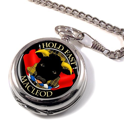 Macleod of Macleod and Dunvegan Scottish Clan Crest Pocket Watch