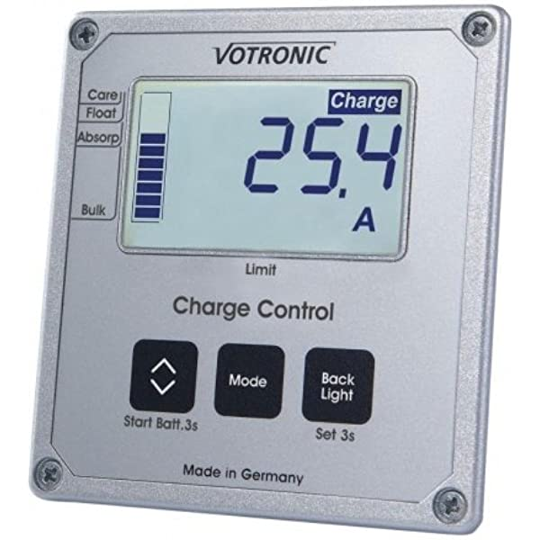 Votronic Lcd Charge Control S Vcc Kontroll Und Bedienelement Für Lade Wandler Auto