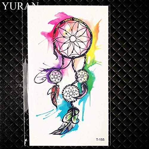 GHHCG Wasser Farbe Blatt Blume Pfeil Temporäre Tätowierung Mädchen Handgelenk Partei Tattoo Aufkleber Übertragbare Körper Arm Kunst Flash Tatto Frauen, (Flash Kostüm Pfeil)