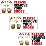 3 x Please Remove Your Shoes Printed Vinyl Sticker Home Mosque Gym Pool