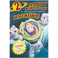 """Hallmark Toy Story 2nd Birthday Card """"Buzz Lightyear"""" - Medium"""