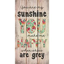 You are My Sunshine When Skies are Grey 20 x 11 Wood Pallet Design Wall Art Sign Plaque