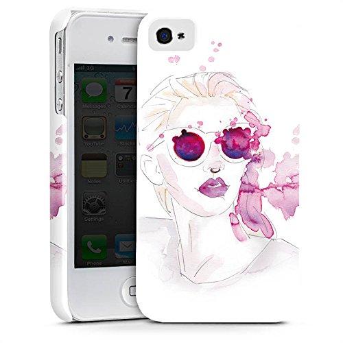 Apple iPhone X Silikon Hülle Case Schutzhülle Abstrakt Mädchen marenkruth Premium Case glänzend