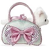 Aurora Fancy Pals Hund Katze in Tasche mit Schleife Mädchen Plüsch Stofftier
