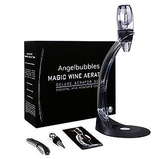 Angelbubbles Wein-Dekantierer Weindekanter Weinbelüfter + Korkenzieher + Flaschenverschluss + Turm und Stand