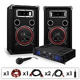 """El equipo DJ-PA """"DJ 14"""" es gracias a su amplificador PA Skytec SPL500 el claro favorito  cuando se trata de organizar eventos pequeños y medianos. Los hasta 500 vatios se encargan  de que los subwoofer de 20cm (8"""") de los dos altavoces..."""