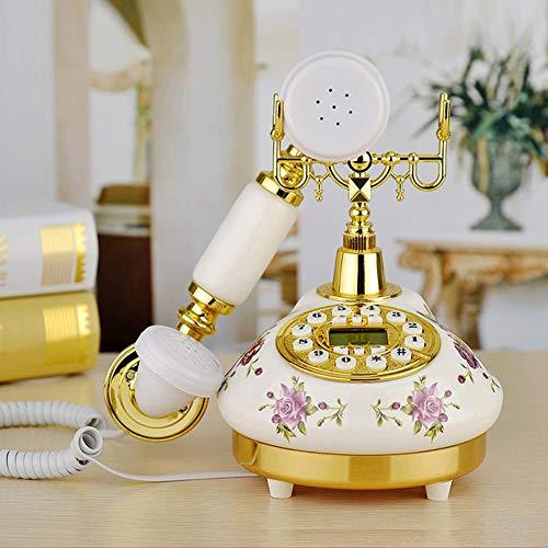 Opfury Vintage Telefon innovative antike Zifferblatt Schreibtisch Rose Desktop Telefon einzigartiges Geschenk für Inneneinrichtungen und Ihre Sammlung