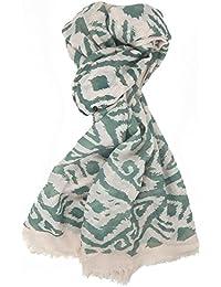f4dd4e2ed0cb FOULARD ÉCHARPE FEMME tendance by Ella Jonte Basic – Style avec Print beige  et vert agréable