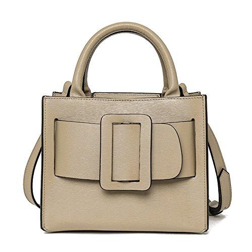 Mefly Leder Taschen Handtasche Mode Dame apricot