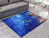 MEHE@ Fashion Individuality creative 3D Printing Underwater World Mats Doormat Slip Carpet Living Room Bedroom Hall Carpets Rugs ( Size : 60×90cm )