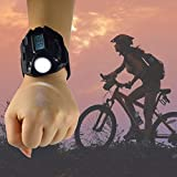 MUMENG 1X Uhrenarmband LED taschenlampe Wasserdichte Outdoor Taschenlampe Wiederaufladbare 3W 200LM für Outdoor Camping Wandern Angeln - 2