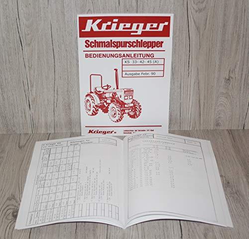 Krieger Bedienungsanleitung für Traktor KS 33 - 42 - 45 (A) Allrad