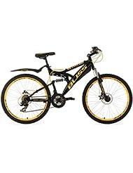 "KS Cycling Bliss VTT tout suspendu 24"" Adolescent TC 38 cm"