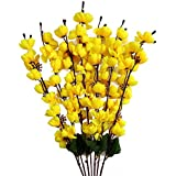 Artificial Flower Bunch for Home Decor Blossom (7 Branches) (Yellow)