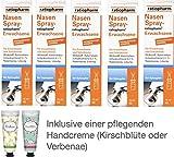 Nasenspray ratiopharm Sparset 5 x 15 ml inklusive einer Handcreme