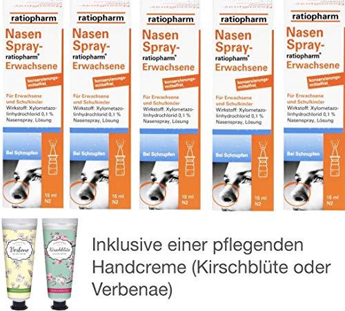 Nasenspray ratiopharm Sparset 5 x 15 ml inklusive einer Handcreme von Apotheken-Express