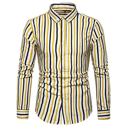 OPALLEY Herren Hemd aus Bambusfaser umweltfreudlich Elastisch Slim Fit für Freizeit Business Hochzeit Reine Farbe Hemd Langarm Herren-Hemd, Gr XXS-2XL, 15 Farben