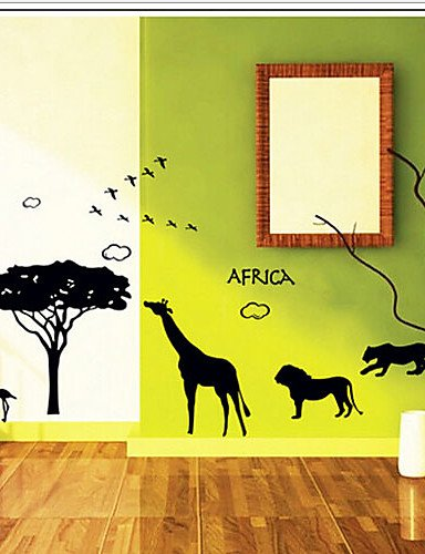 Ling@ ambientali zoo africano tag PVC estraibile&sticker - Zoo Africano