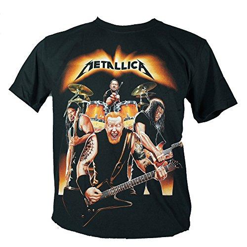 Metallica-Maglietta da uomo nero Four Cartoon Ghost Large Size L