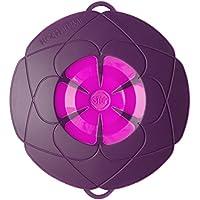 Bunte Kochblume Überkochschutz purple klein - Ø 25,5 cm