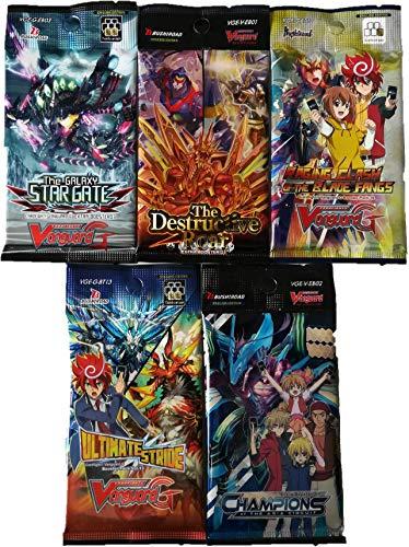 Cardfight Vanguard Mystery Set: 5 Verschiedene Booster Packs auf englisch - Vanguard Karten von Bushiroad (Vanguard-karten)