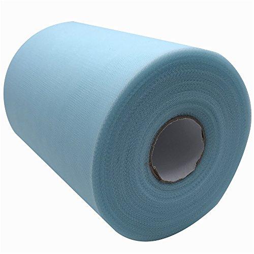 Tüllstoff, 15,2cm x 91m (300Fuß), Spule/Rolle, 59Farben erhältlich, für Tischläufer, Stuhl-Schärpe, Tutus, Schleifen, für Hochzeiten, Partys, als Geschenkband tiffany blue