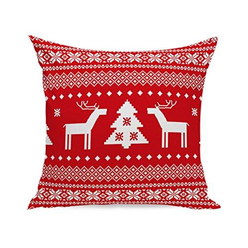 ZARU Sofá cama decoración de la casa Funda de almohada de vacaciones♥Serie de Navidad♥ (B)