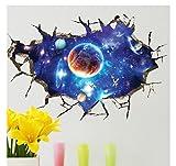 AUVS® 3D- Selbstklebende Abnehmbaren Durchbrechen Die Mauer Vinyl Wandsticker / Wandgemälde Kunst Aufkleber Dekorateur Star Trek (60x90cm)