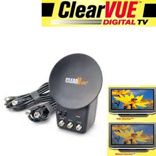 Antenne ClearVue®–Verbessert die Signale von 50% Rezeption UHF, VHF und Radio–Anschluss wie eine Steckdose